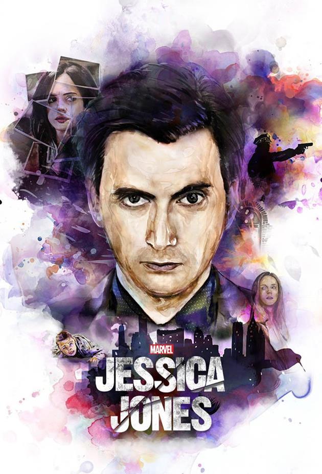 Affiche Jessica Jones - Portrait robot dessiné de Kilgrave
