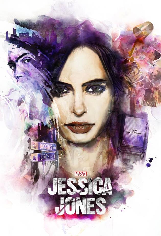 Affiche Jessica Jones - Portrait dessiné de Jessica