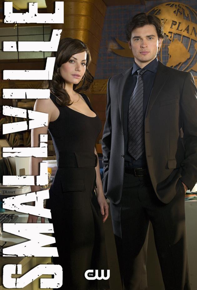 Affiche Smallville et héros du Daily Planet