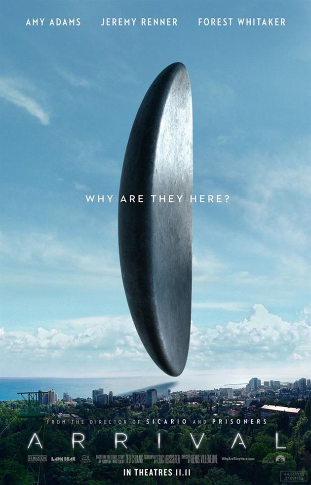 Affiche américaine du film Arrival