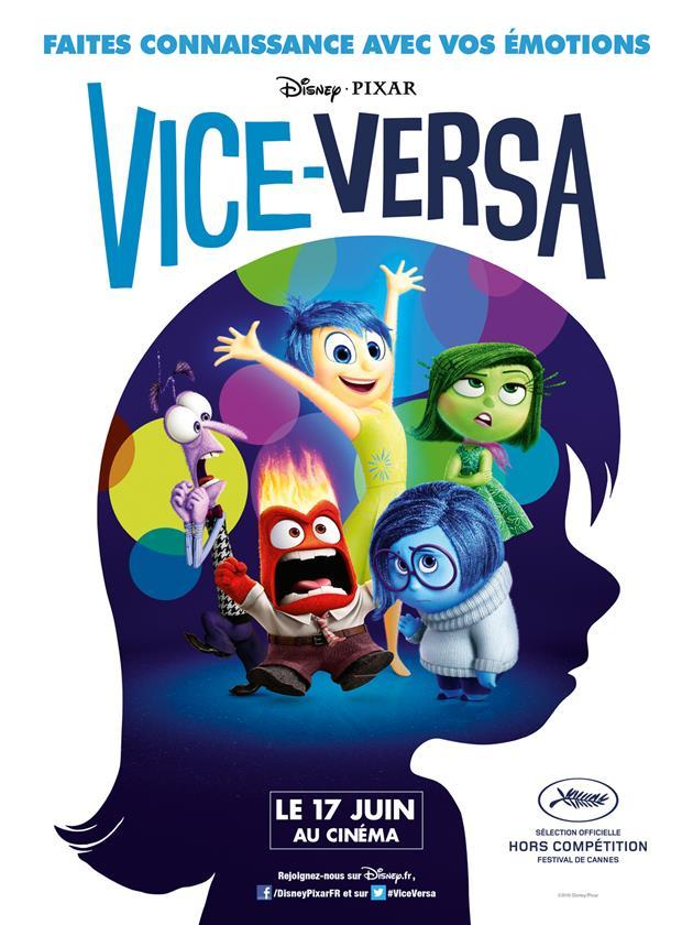 Affiche française Vice-Versa - Faites connaissance avec vos émotions