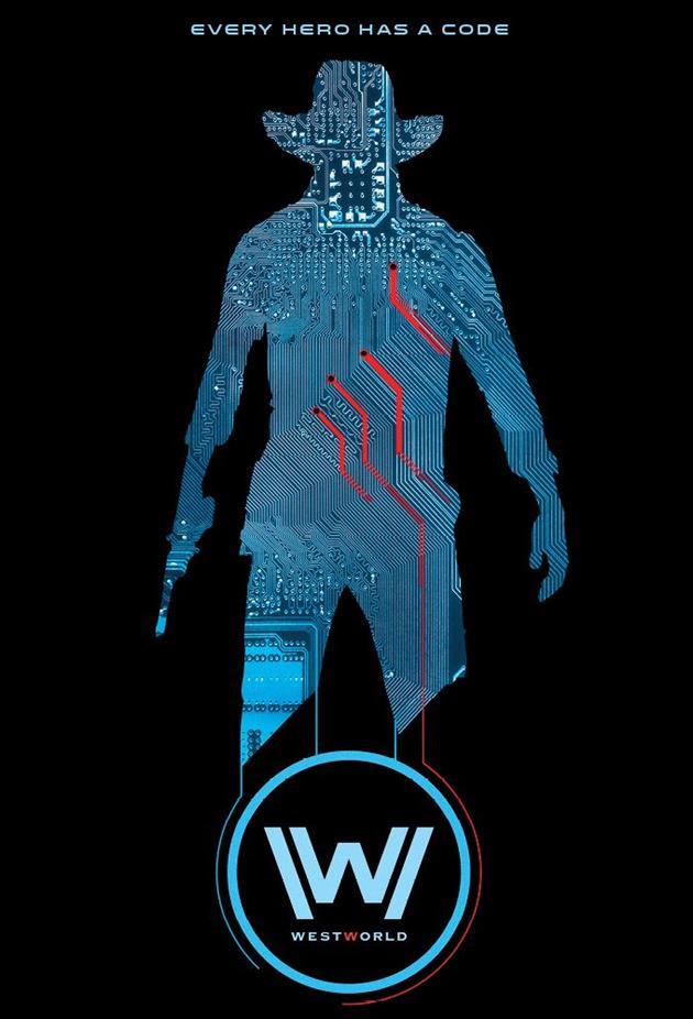 Affiche Westworld - les cowboys ont un code