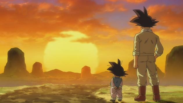 Sangoku et Sangoten admirant un coucher de soleil