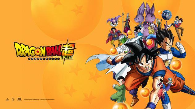 Fond d'écran avec les personnages principaux de Dragon Ball Super