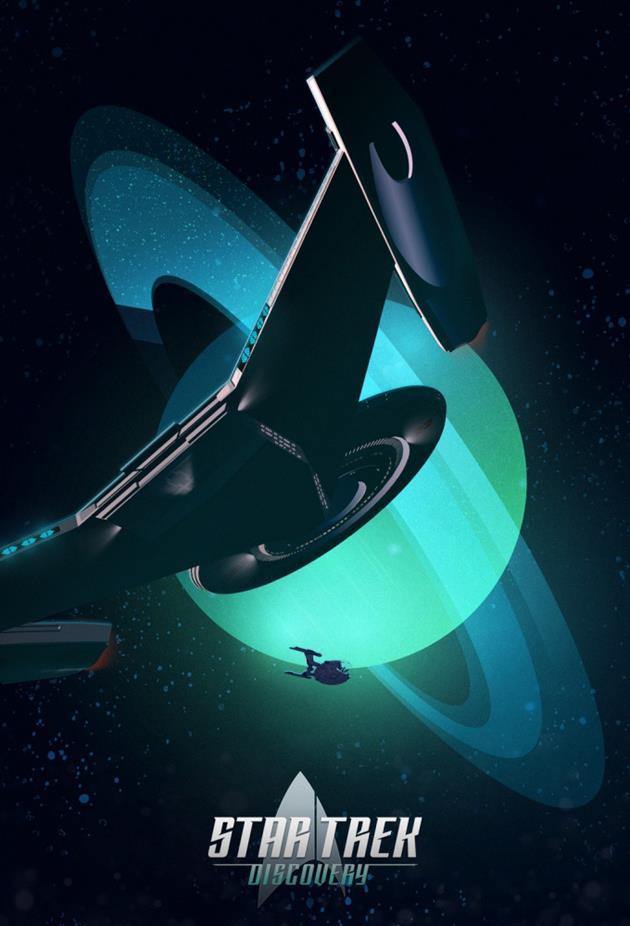 Affiche Star Trek Discovery position attaque