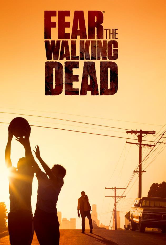Affiche fear the Walking Dead - basket zombie