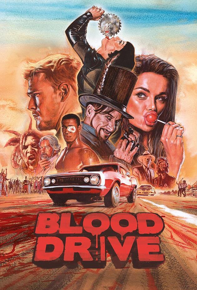 Affiche dessinée pour Blood Drive