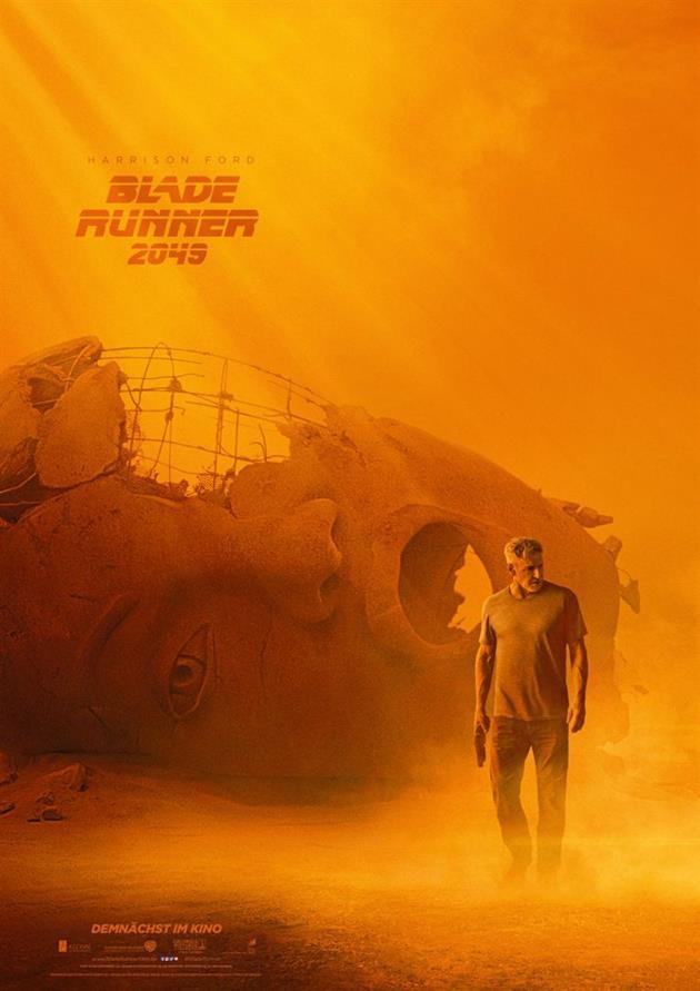 Affiche teaser Visage Deckard Blade Runner 2049