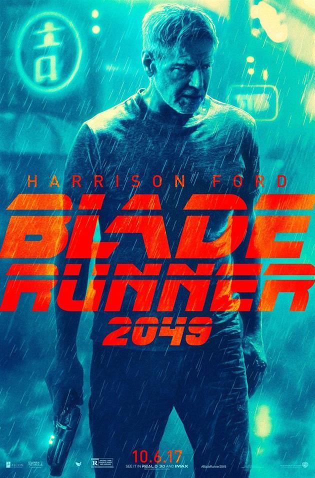 Affiche teaser Harrison Ford Blade Runner 2049