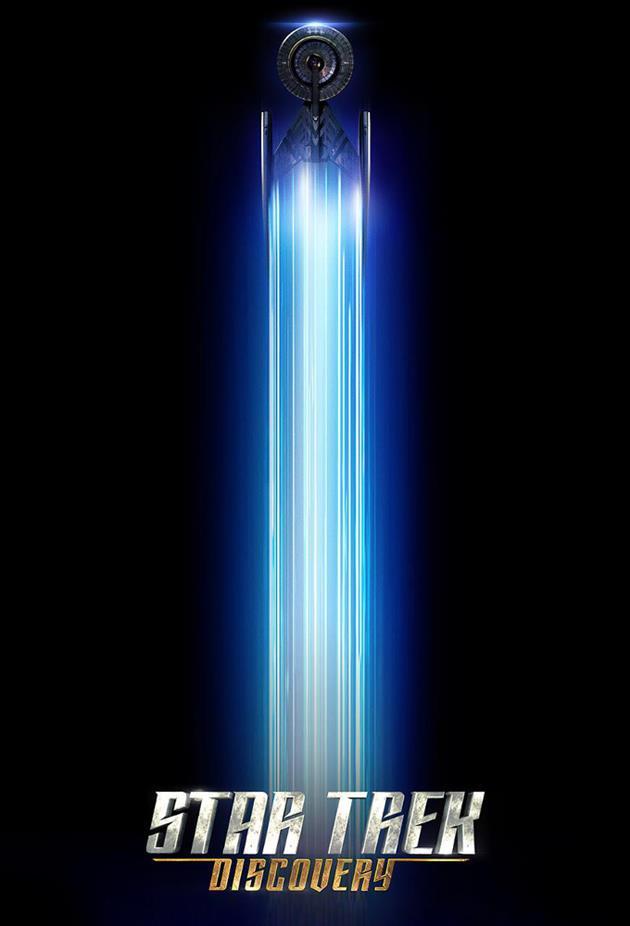 Affiche star Trek Discovery vaisseau filant