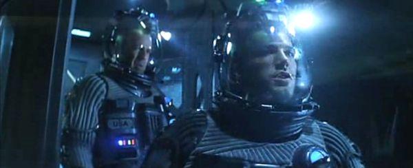 Armageddon: Harry S. Stamper (Bruce Willis) et A.J. Frost (Ben Affleck)