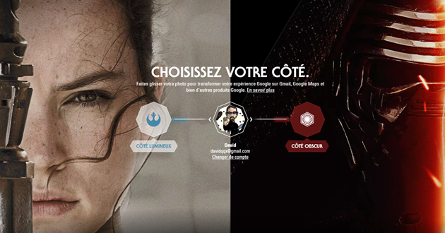 Les services Google en mode Star Wars