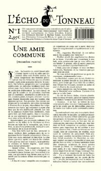 Le Club Diogène : L'Écho du Tonneau : Une Amie Commune [Numéro de l'Écho du Tonneau 1 - 2008]