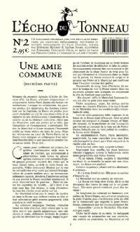 Le Club Diogène : L'Écho du Tonneau : Une Amie Commune [Numéro de l'Écho du Tonneau 2 - 2008]