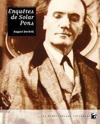 Enquêtes de Solar Pons [2011]