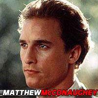 Matthew McConaughey  Acteur, Doubleur (voix)