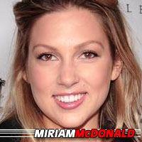 Miriam McDonald  Actrice