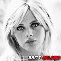 Britt Ekland  Actrice