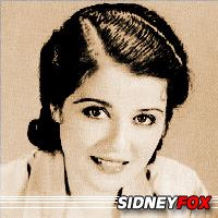 Sidney Fox  Acteur