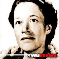 Anne Revere  Actrice